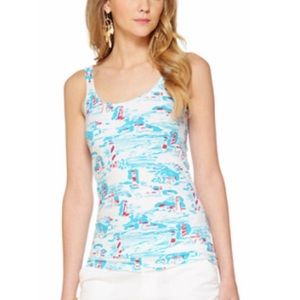 Tops - Lilly Pulitzer lighthouse coastal waters Tank top